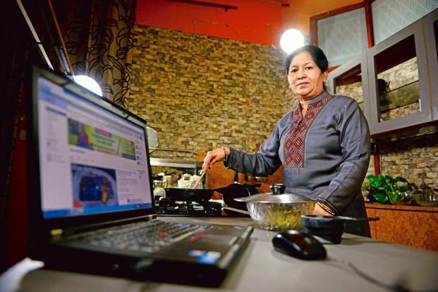 Nisha Madhulika at her home studio. Photo: Pradeep Gaur/Mint